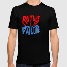 future failure hand lettering SMALL Black Mens Fitted Tee
