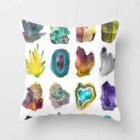 Crystals Throw Pillow