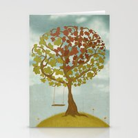 All Seasons Tree Stationery Cards