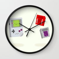 Gameboy & Games Wall Clock