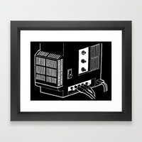 Amplifier White on Black Framed Art Print