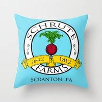 Schrute Farms | The Office - Dwight Schrute Throw Pillow