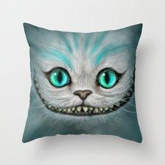 Smile Cat - CHESIRE Throw Pillow