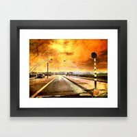 Bridge Over Troubled Wat… Framed Art Print
