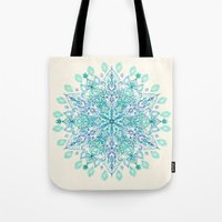 Peppermint Snowflake On … Tote Bag