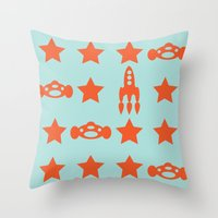 Star Car Throw Pillow