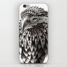 black and white ornate rendered tribal eagle iPhone & iPod Skin