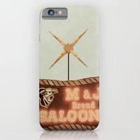iPhone & iPod Case featuring Retro Saloon Sign by angela haugland