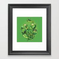 Sir Charles Cthulhu Framed Art Print