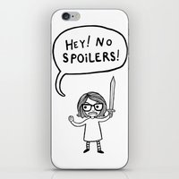 No Spoilers iPhone & iPod Skin