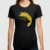 For Charlie (Homage To Guile) Womens Fitted Tee Tri-Black SMALL