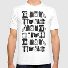 Kitchen Utensils SMALL Mens Fitted Tee White
