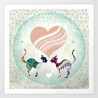 CatLove Art Print