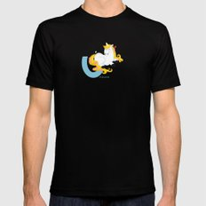 u for unicorn Black Mens Fitted Tee SMALL
