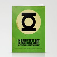 Green Lantern (Super Minimalist series) Stationery Cards