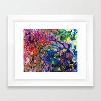 Youthful Discretions - Abstraction Improvisational Painting Framed Art Print