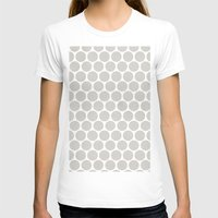 Polka Dot Crazy Womens Fitted Tee White SMALL