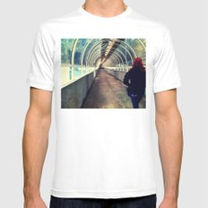 Onward Into The Tunnel Forbidden  Mens Fitted Tee SMALL White
