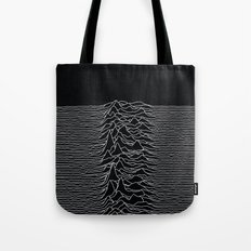 Unknown Radio Waves - Unknown Pleasures Tote Bag