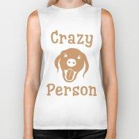 Crazy Dog Person [FOR WHITE] Biker Tank
