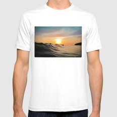 Sunset in Paradise Mens Fitted Tee White SMALL