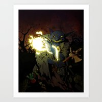 Gobnob the Terrible Art Print