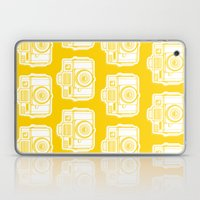 I Still Shoot Film Holga Logo - Reversed Yellow Laptop & iPad Skin