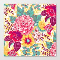 Bloomin' Beauties - Sunshine Canvas Print