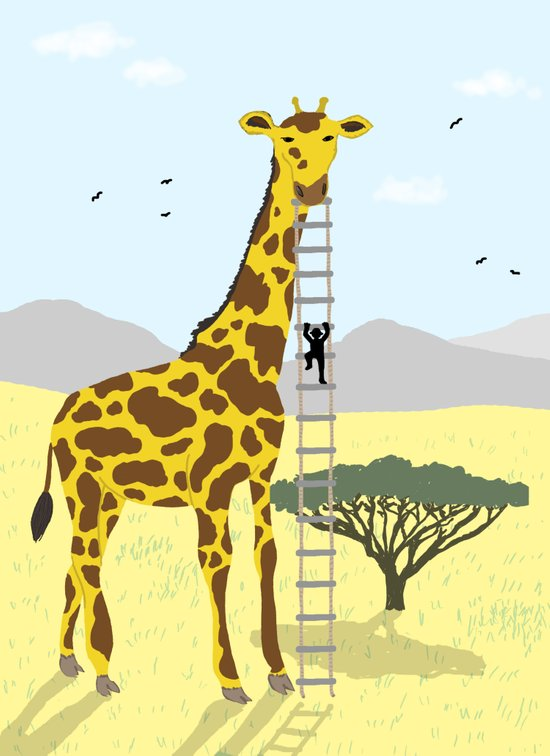 Giant Giraffe Canvas Print