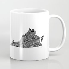 Typographic Virginia Mug