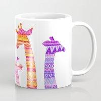 Giraffe Silhouettes In C… Mug