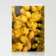 Tiny Yellow Blossoms Stationery Cards