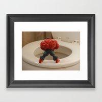 Red Hulk Go Potty Framed Art Print