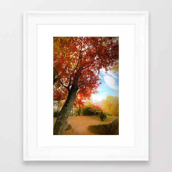 Autumn Tree Scene Framed Art Print