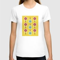 Scandinavian Inspired Fl… Womens Fitted Tee White SMALL