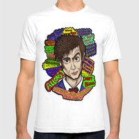 The 10th Doctor Mens Fitted Tee White SMALL