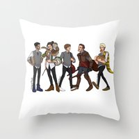A Hogwarts AU Throw Pillow