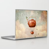tea Laptop & iPad Skins featuring Tea for Two at Dusk by Paula Belle Flores