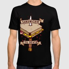 Sandwichin til death Mens Fitted Tee SMALL Black