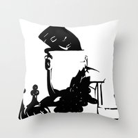 Ink Still Life Throw Pillow