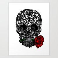 Skull Rose Art Print