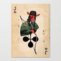 LANCELOT DU LAC Canvas Print