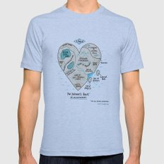 A Map of the Introvert's Heart Mens Fitted Tee Athletic Blue SMALL