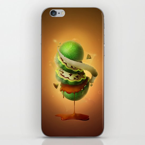 Sliced Green Wallnut iPhone & iPod Skin