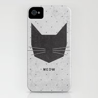 MEOW iPhone (4, 4s) Slim Case
