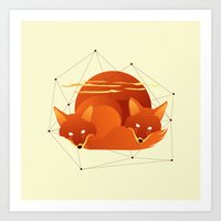 Fiery Fox Art Print