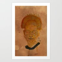 The woman with the black necklace Art Print