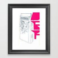 Def In Pink. Framed Art Print
