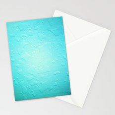 blue water droplets Stationery Cards