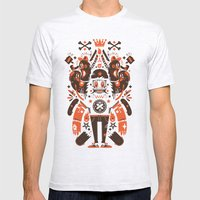 Newfren Monsters Mens Fitted Tee Ash Grey SMALL